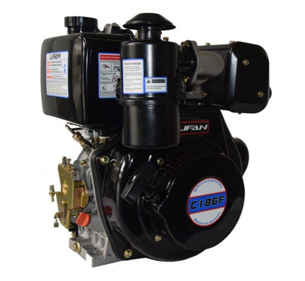 Двигатель дизельный Lifan C186F(10лс,шпонка 25мм)