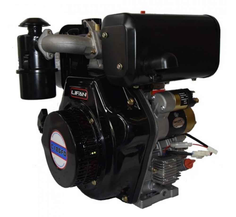 Двигатель дизельный Lifan C186F-D(10лс,шпонка 25мм)