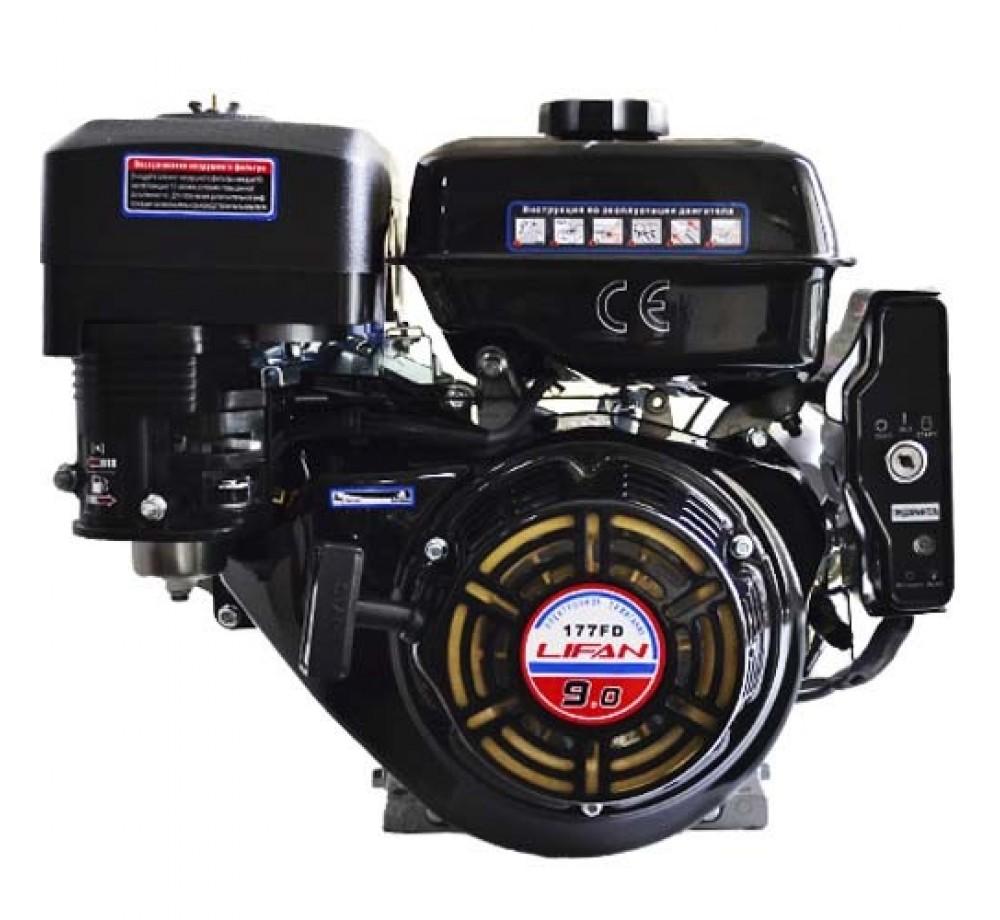 Двигатель-Lifan 177F-D (вал 25мм, 90x90) 9лс