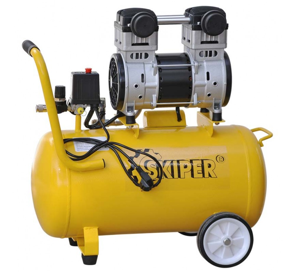 Компрессор безмасляный SKIPER AR50XL (до 220 л/мин, 8 атм, поршневой, 50 л, 220 В, 1.1 кВт)