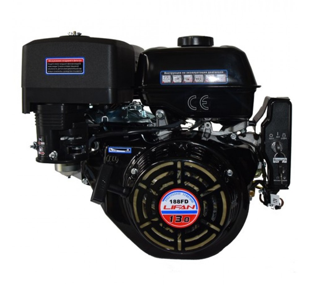 Двигатель-Lifan 188FD (V-1, конус) 13л.с.