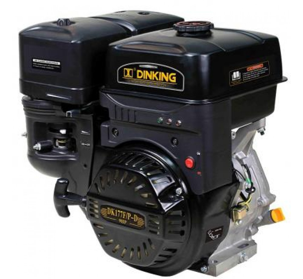 Двигатель бензиновый DK270F (W shaft) ручной стартер стальной распредвал и коленчатый вал с датчиком