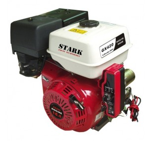 Двигатель STARK GX420E S(шлицевой вал 25мм) 16лс + электростартер