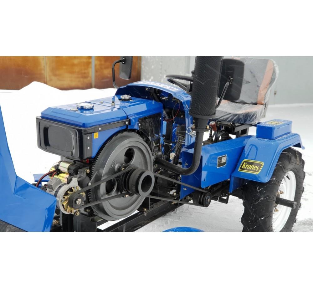 Минитрактор дизельный Xingtai XT180 со сцепком, плугом и почвофрезой