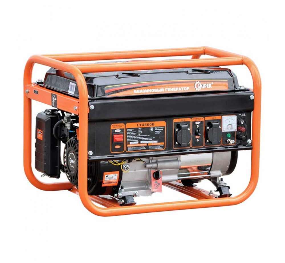 Бензогенератор (электростанция) Skiper LT4500