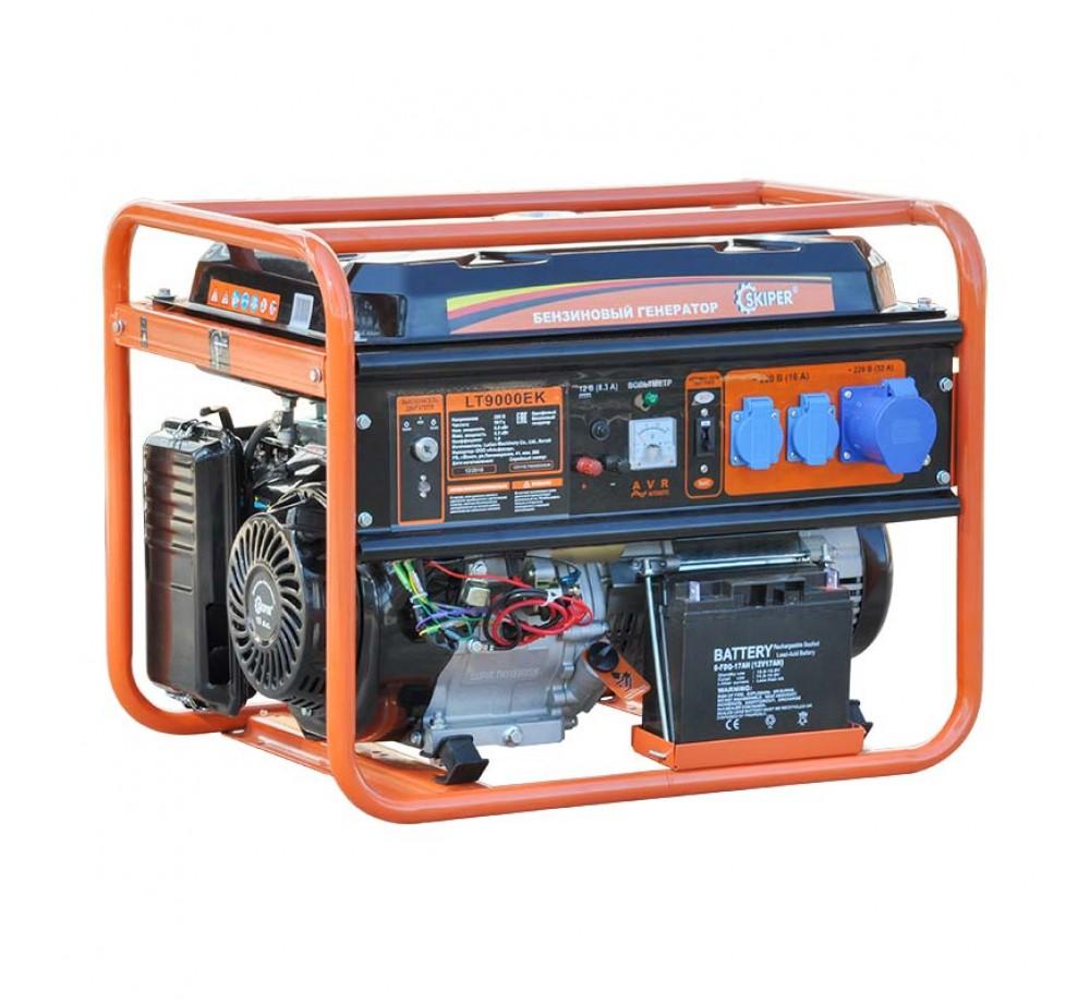 Бензогенератор (электростанция) Skiper LT9000 ЕК