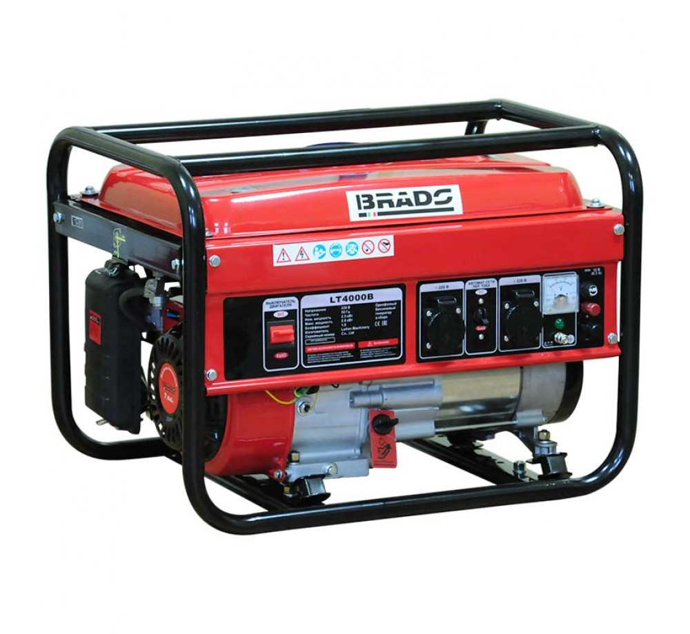 Бензогенератор (электростанция) Brado LT 4000B