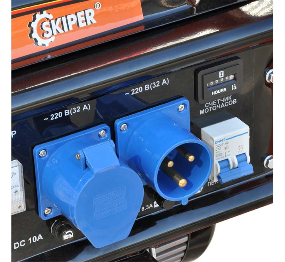 Электростанция SKIPER LT9000EB-ATS (6.3кВт, 1x220В/16А, 1х220В/32А, ATS, колеса, эл./старт)