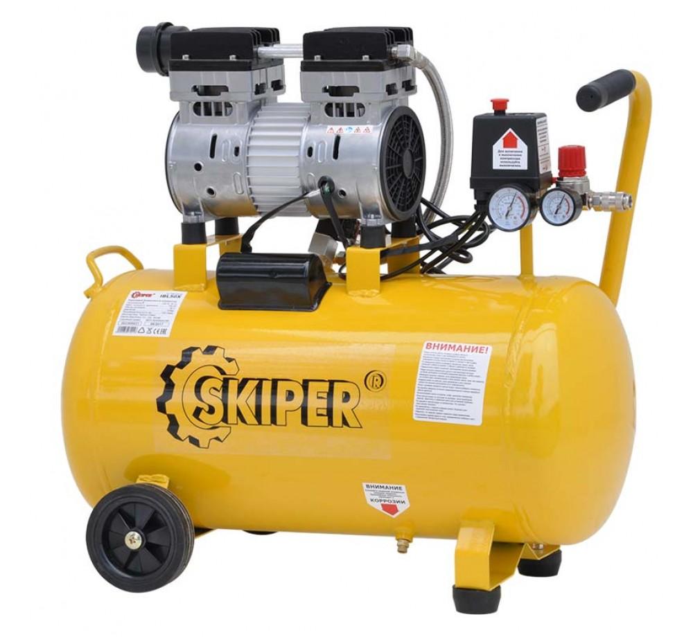 Компрессор безмасляный SKIPER IBL50X (750 Вт, 220В, 50 л)